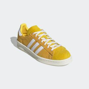 adidas Campus 80s Casual Fashion Sneaker Bold Gold Yellow White FX5443 Soccer